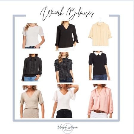 Need blouses for court or for work in general? These Nordstrom Anniversary Sale tops are all under $100!  #LTKsalealert #LTKunder100 #LTKfit
