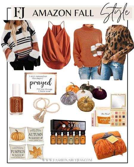 Fall sweaters, home decor, fall decor, amazon fashion  #LTKunder50 #LTKhome #LTKunder100