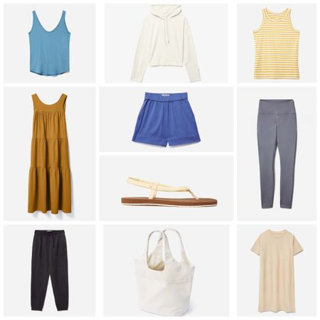Everlane Is my favorite place to pick up basics & stock up on wardrobe essentials & right now they're having their End of Summer sale! These are some of my favorite pieces (I have this t-shirt dress in 2 colors & this one is in my cart plus this sweatshirt!)! I love that they work for right now but also can be layered for when the temperatures drop. #sustainablestyle   #LTKunder50 #LTKbacktoschool #LTKsalealert