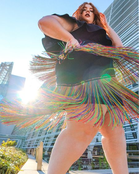 Obsessed with this fringe skirt from #eloquii http://liketk.it/3eg49 #liketkit @liketoknow.it #LTKcurves #LTKsalealert #LTKstyletip
