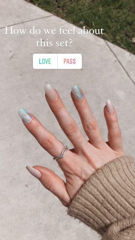 Latest DIY manicure with Kiss nails   #LTKbeauty #LTKDay #LTKunder50