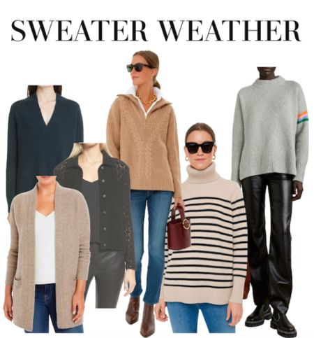The chicest and softest sweater options for fall and winter outfit ideas.  #LTKstyletip #LTKSeasonal #LTKworkwear