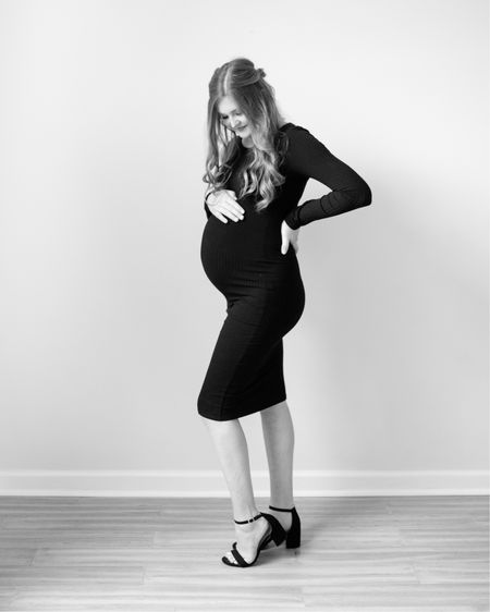 Black and white maternity session - this dress is the PERFECT dress to show off that baby bump! http://liketk.it/2SgQz #liketkit @liketoknow.it #maternity #maternitysession #maternityfashion #pregnancyfashion