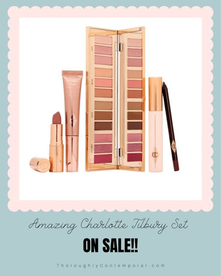 The Nordstrom Anniversary Sale Early Access has begun! But don't worry if you can't shop the sale yet, you can still save all of your favorites to your Nordstrom Wishlist! This Charlotte Tilbury set is a bit pricy but well worth it for the value of all of these products. I have Pillow Talk lipstick and it is a great pinky neutral, but the eyeshadow palette is simply to die for!   #nsale   Nordstrom Anniversary Sale   Nordstrom Sale   Charlotte Tilbury   luxury beauty   makeup on sale   #LTKbeauty #LTKSeasonal #LTKsalealert