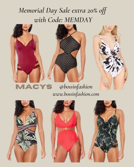 http://liketk.it/3gyEm Macy's swim is on sale for extra off with MEMDAY code! I am loving one piece swim suits especially from Bar III! Shop my favorites! #macys #macysswim #macysswimsuit #onepiece #monokini #macyssale You can instantly shop all of my looks by following me on the LIKEtoKNOW.it shopping app #LTKsalealert #LTKstyletip #LTKswim / #liketkit @liketoknow.it