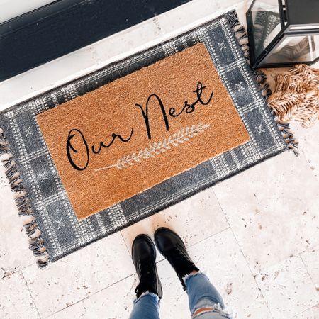Fall rug / doormat options from Target.      #LTKunder50 #LTKstyletip #LTKsalealert