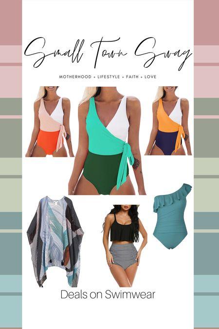 Deals on swimwear with Prime Day! . . . . . .  Amazon // prime day // Amazon prime // Amazon deals // Amazon fashion // Amazon swim // Amazon swim suit // swim suits // bikini // one piece // High waist bikini // kimono // cover up // one piece side tie // swim // swimwear // swimming // pool // beach vacation // beach favorites // two piece   #LTKSeasonal #LTKswim #LTKsalealert