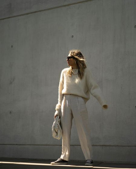 http://liketk.it/2Ogjk #liketkit @liketoknow.it all beige, total beige Look, spring vibes, Bottega Veneta Pouch