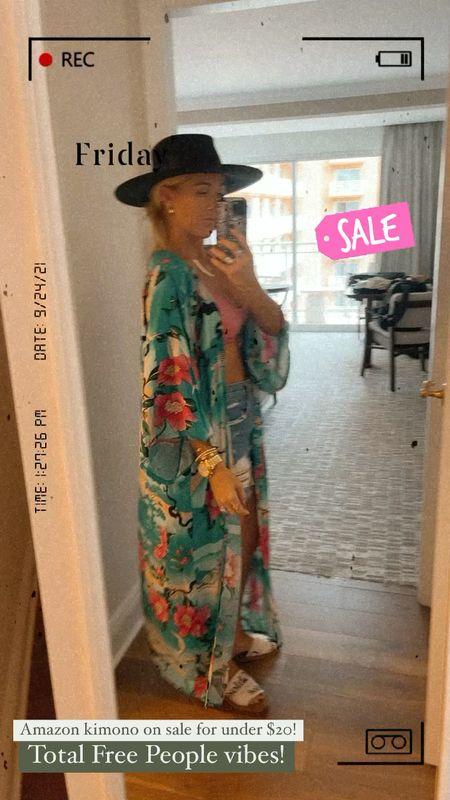 One of my fav amazon kimonos is on sale for under $20 today! It's total free people vibes!   #LTKsalealert #LTKunder50 #LTKstyletip