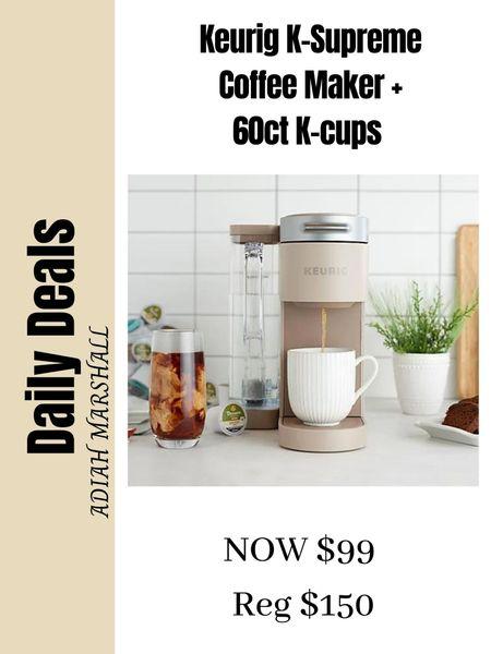 Keurig K Supreme Coffee Maker +  60ct. Assorted K-cups Would make a great gift!!  #LTKSeasonal #LTKHoliday #LTKGiftGuide