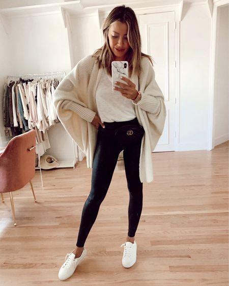 loungewear, leggings, sneakers, cardigan http://liketk.it/2OkR4 #liketkit @liketoknow.it #LTKstyletip #LTKshoecrush