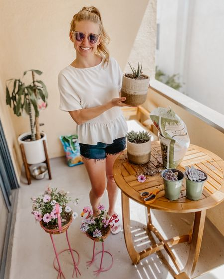 Casual, comfy outfit & the cutest flamingo planters 🦩 http://liketk.it/2OZUi @liketoknow.it #liketkit #StayHomeWithLTK #LTKhome #LTKspring