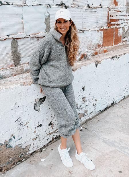 Nordstrom, skims, matching set, cozy set, sneakers, travel outfit  #LTKsalealert #LTKfit #LTKtravel