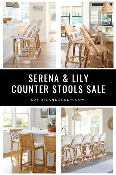 Serena & Lily counter stools sale! Safve 20% on kitchen and dining essentials! They'll make a great holiday gift for mom, dad, parents, the kids, son, daughter, the entire family. Best rattan counter stools. Square back counter stools. Fan back counter stools! ❤️   #LTKsalealert #LTKGiftGuide #LTKhome
