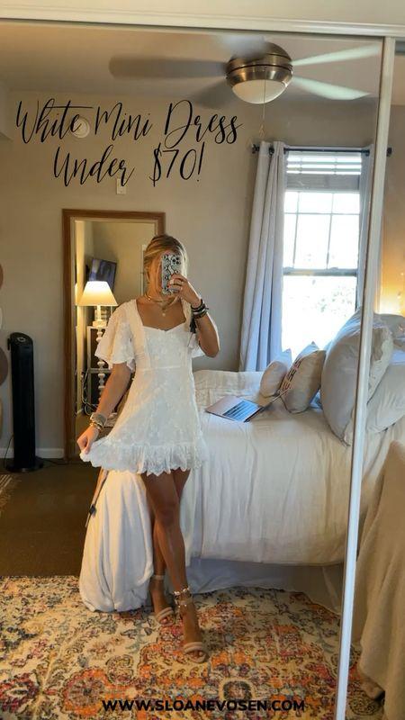 Wedding guess dresses. White dress. Formal dress. Mini dress white dress. Sorority   #LTKsalealert #LTKwedding #LTKunder100