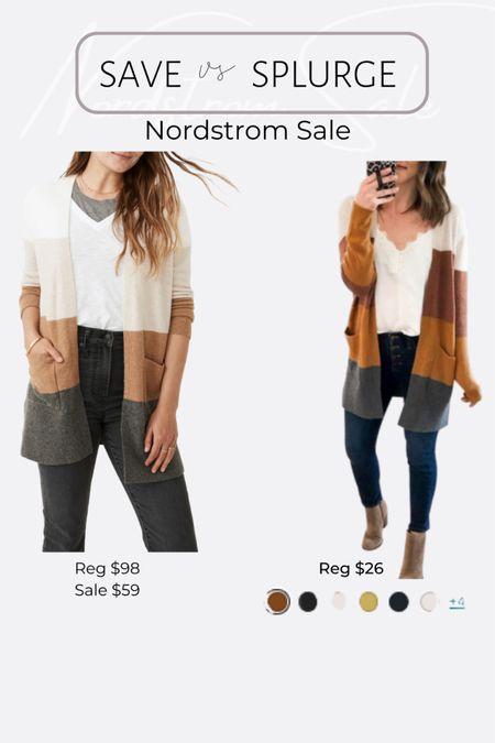 Nordstrom NSale favorite picks and dupes madewell color lock cardigan http://liketk.it/3jRLt #liketkit @liketoknow.it #LTKsalealert #LTKunder50 #LTKunder100