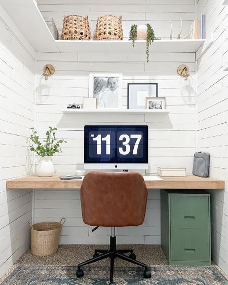 Neutral work from home space. Closet to office transformation.   #LTKhome