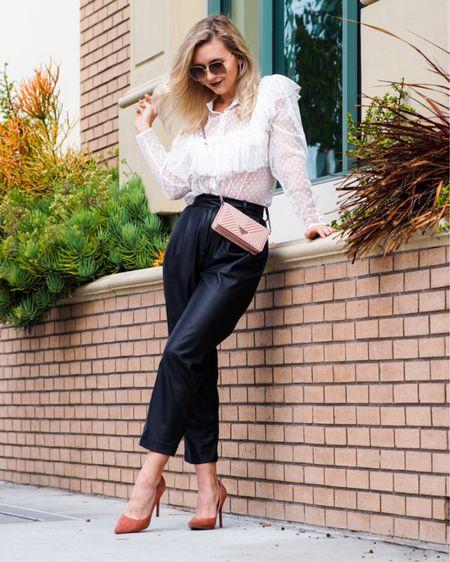 My Thanksgiving look 💓 #LTKunder50 #LTKstyletip #LTKsalealert #blackfriday #hm #hmstyle #leatherpants @liketoknow.it #liketkit http://liketk.it/32ock