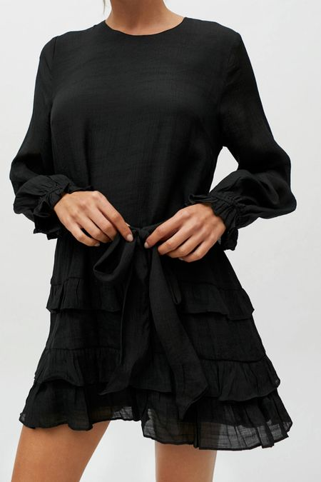 Black frill mini dress    #LTKwedding #LTKHoliday #LTKSeasonal