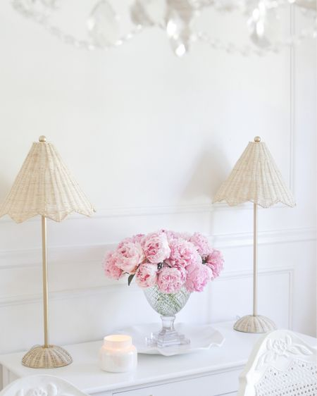 I'm loving these lamps paired with some pink peonies! I'm still eyeing my garden waiting for my peonies to bloom! 🌸 http://liketk.it/3gMTN #liketkit @liketoknow.it #LTKunder50 #LTKunder100 #LTKhome @liketoknow.it.home