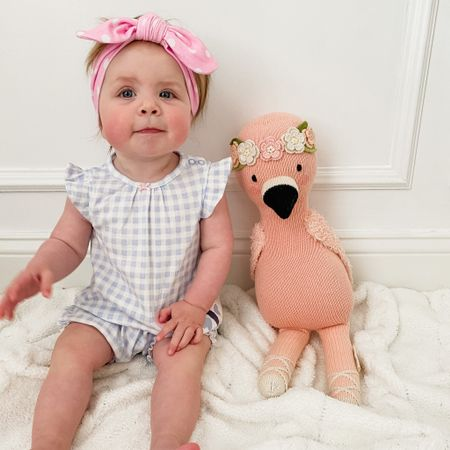 This cutie outfit is one of my new favorites. I love the sweet colors and it's so inexpensive from Carter's!   I also linked our Cuddle and Kind Flamingo - you can get it on Amazon Prime. Shared a few other dolls too.   Can't find these headbands anymore but shared a very similar set! http://liketk.it/3dPSf #liketkit @liketoknow.it #LTKbaby #LTKkids #LTKstyletip