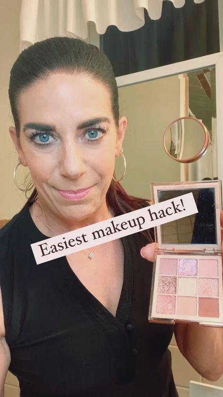 Easy makeup hack with scotch tape! Who knew?!   Makeup over 50 Makeup hack  Summer look  Mature skin Beauty over 50     #LTKunder100 #LTKbeauty #LTKstyletip