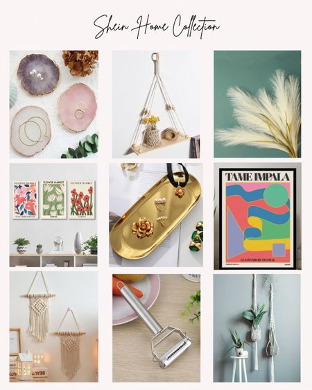 Shein, home decor, prints, faux flowers, stems, shelf, new, just added  #LTKstyletip #LTKhome #LTKunder50