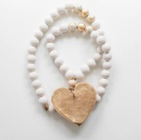Blessing beads with a heart in white and gold