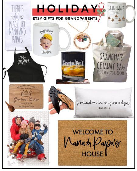 Gifts for grandparents. Christmas gifts. Etsy. Grandma and grandpa. Personalized gifts. http://liketk.it/31hJz @liketoknow.it #liketkit #LTKunder50 #LTKstyletip #LTKfamily
