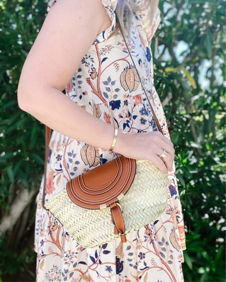 All. The. Summer. Vibes. 🌸  Also, I don't need another straw bag. But I do. I really do. ☀️  This is the Marcie Small Raffia bag. Linked some similar ones!    Shop your screenshot of this pic with the LIKEtoKNOW.it shopping app http://liketk.it/3fGjp @liketoknow.it.home @liketoknow.it @liketoknow.it.family #liketkit #LTKstyletip #LTKswim #LTKwedding