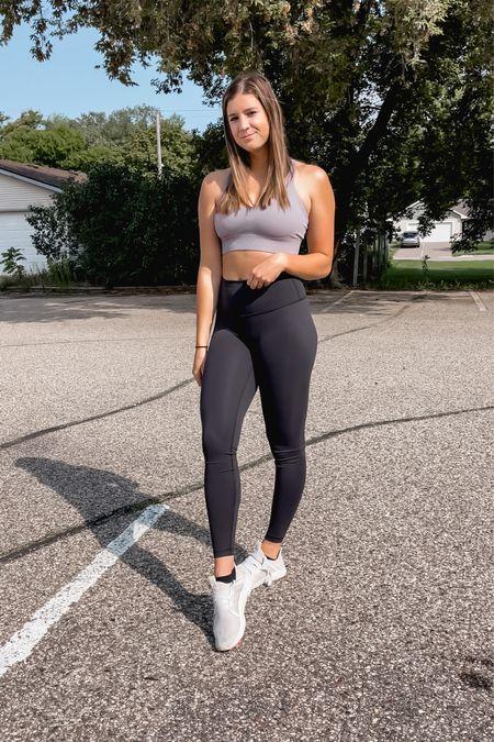 Workout outfit : Amazon sports bra + lulu lemon leggings + adidas tennis shoes  #LTKunder100 #LTKfit #LTKunder50